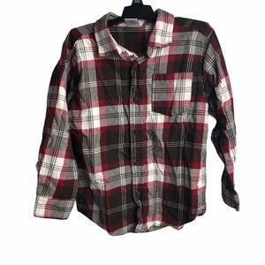 Boys Gymboree Flannel Plaid Button Down Size S 5-6